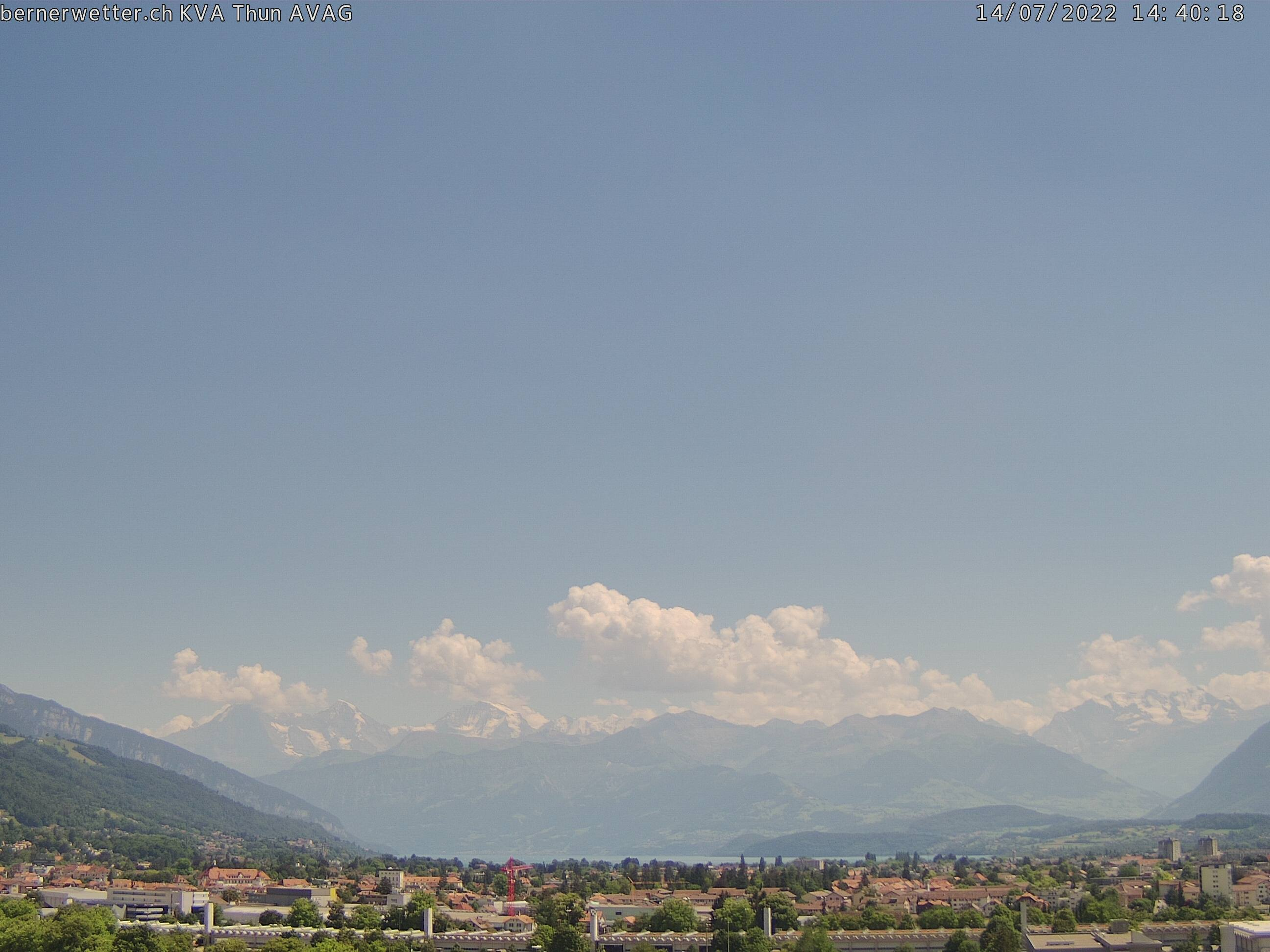 Wetterkamera in Thun, Sicht auf Berner Alpen und Jura